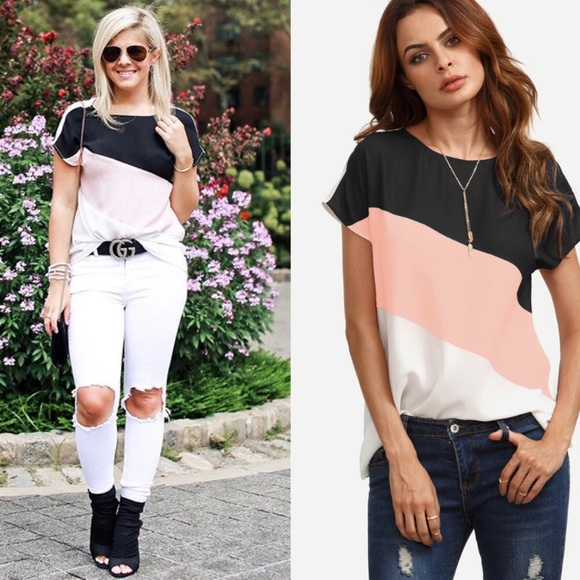 SHEIN Tops - Color block blouse